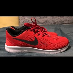 Nike Free RN - Youth - University Red/Black